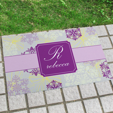 Spring Floral Personalized Doormat