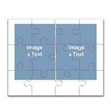 10x8 英寸拼盘拼图  2图拼盘(横式)