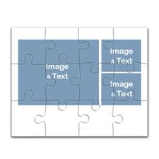 照片拼图制作 10x8英寸3图横款白色边框拼图