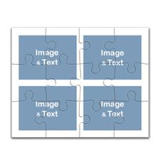 10x8 英寸拼盘拼图 4图拼盘(横式)