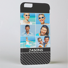 Black Stripe Six Collage Photo Personalized iPhone 6+ Phone Case
