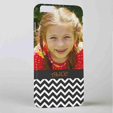 Black Chevron Personalized Photo iPhone 6+ Mobile Case