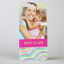 Happy Stripes Personalized Photo iPhone 6+ Case