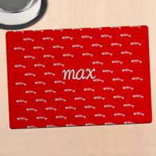 红色猫咪个性化餐垫