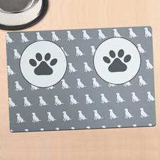 个性化狗碗餐垫
