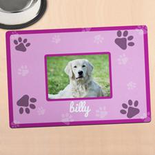 粉红色个性化照片餐垫