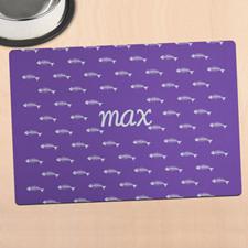 紫色猫咪个性化餐垫