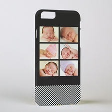 Black Six Collage Personalized Photo iPhone 6 Case