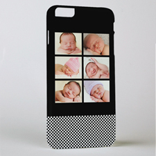 Black Six Collage Personalized Photo iPhone 6+ Case