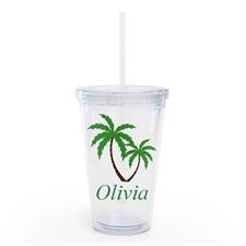 个性化椰子树吸管杯