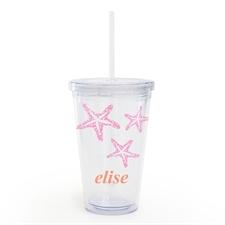 粉红海星个性化吸管杯