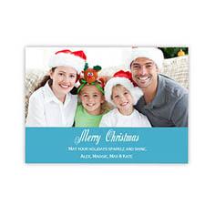 圣诞快乐蓝色 个性请柬/明信片