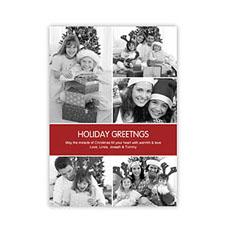 快乐红色假日主题 个性请柬/明信片 5图拼贴