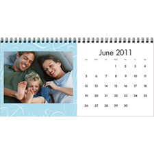 5×11英寸新年台历 温馨家庭(蓝色)