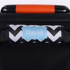 定制黑色线条行李箱拉杆套