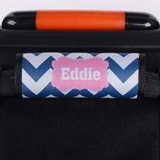 定制海军蓝线条行李箱拉杆套
