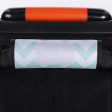 定制薄荷绿线条行李箱拉杆套