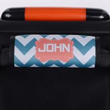 定制暗绿色线条行李箱拉杆套