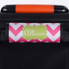 定制亮粉色线条行李箱拉杆套