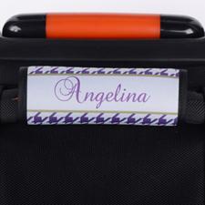 定制紫色行李箱手把套