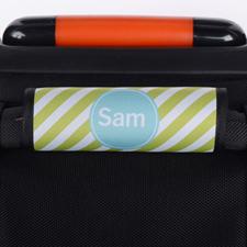 定制淡绿色条纹行李箱拉杆套