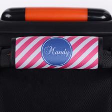 定制粉色条纹行李箱拉杆套