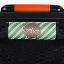 定制绿色条纹行李箱手把套
