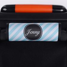 定制暗绿色条纹行李箱拉杆套