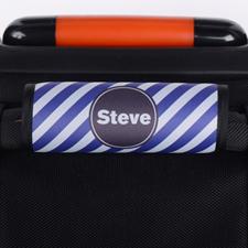 定制紫色条纹行李箱拉杆套