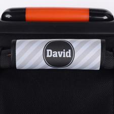 定制灰色条纹行李箱拉杆套