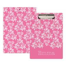 个性化粉红锦缎写字板