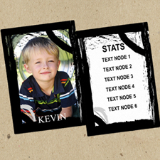 定制个性化照片球星卡,一套12张卡片带黑边