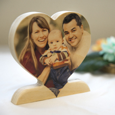 个性化木制心形照片装饰品