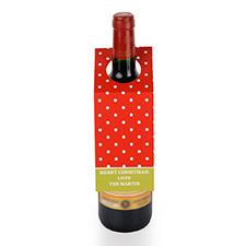 定制红色波点设计红酒挂牌,6个一套装