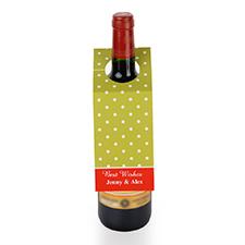定制淡绿色波点设计红酒挂牌,6个一套装