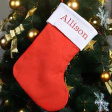 定制可刺绣名字的圣诞袜