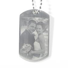 婚礼照片雕刻军牌项链