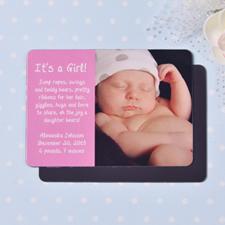 2.5x3.5英寸个性磁贴/冰箱贴 宝宝满月(粉色)(18张起订)