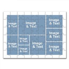 经典主题 16.5×12英寸个性拼盘拼图 9图拼贴