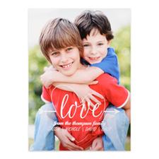 定制个性化情人节一箭穿心照片卡,5x7英寸
