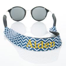 海军蓝线条设计太阳镜挂绳