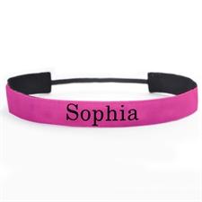 定制1英寸带名字的粉色头带