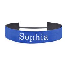 定制1.5英寸带名字的蓝色头带