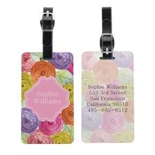 定制水彩花卉个性化行李牌