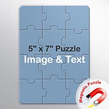 5×7英寸个性磁性拼图