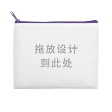 8X10英寸照片定制闪金文字化妆包 紫色拉链(双面订制)