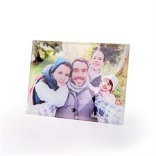 个性化7 x 5照片玻璃打印带支架,横向