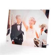 个性化10 x 8照片玻璃打印带支架,横向