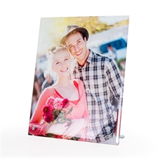 个性化8 x 10照片玻璃打印带支架,坚向