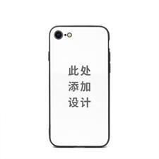手机壳DIY 亮光表面定制 iPhone 7/8手机壳(黑框)